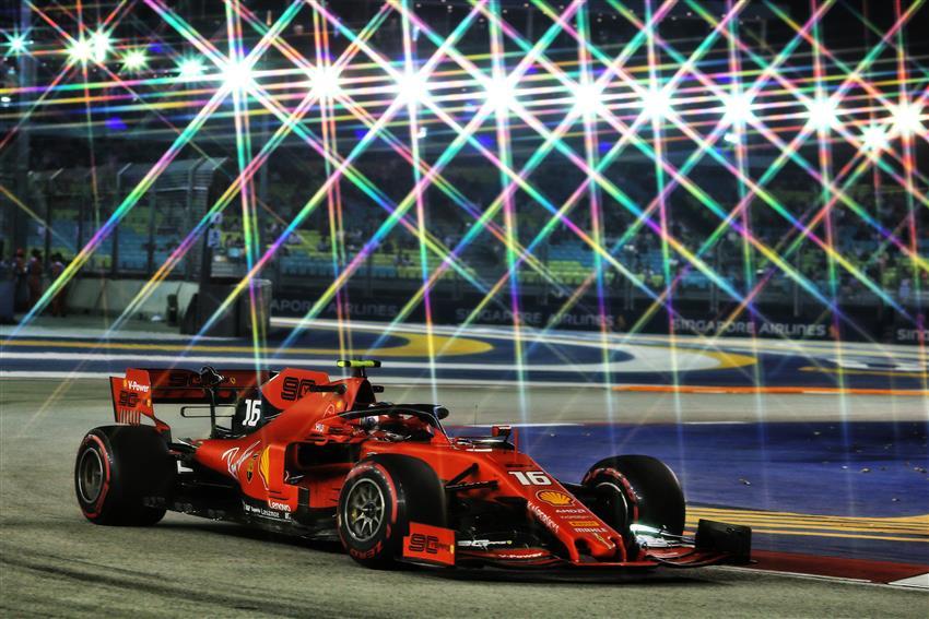 F1 Diretta Gara Leclerc Singapore