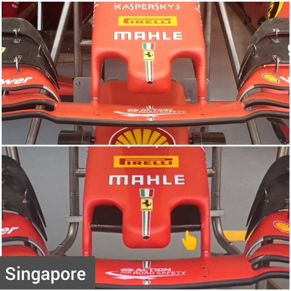 f1 ferrari muso anteriore mantello gp singapore