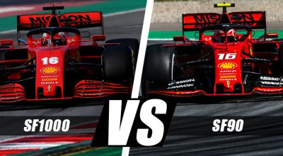 f1 ferrari sf1000 vs sf90 test barcellona video analisi