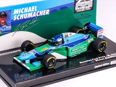 modellino schumacher benetton 1994 minichamps