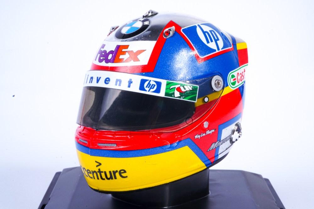 modellino casco f1 juan pablo montoya 2003 scala 1/5