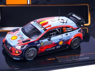 modellino rally wrc hyundai i20 wrc montecarlo 2020 neuville ixo 1:43