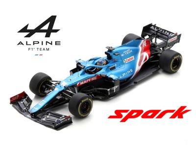 modellino f1 alonso 2021 alpine spark 1:43