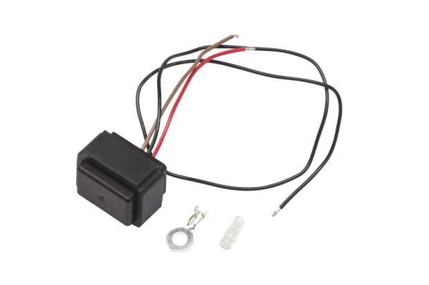 The rear kit contains this high quality LED relay (not included in front kit)