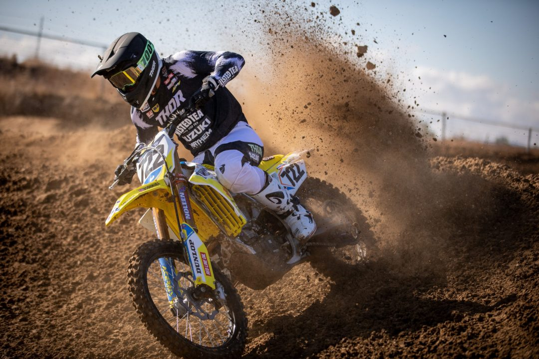 Adam Enticknap (722) is ready to go in 2021 on his Suzuki RM-Z450