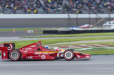 Scott Dixon(9) entering turn 2 during the Angie's List Grand Prix of Indianapolis at Indianapolis Motor Speedway, Saturday, May. 14, 2016, in Indianapolis, IN. (Tribute Racing/Matthew Bishop)