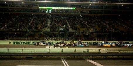 The start of the Ford Ecoboost 200 at Homestead-Miami Speedway.