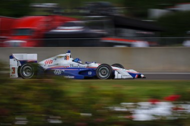 Helio Castroneves drives down the fontstraight during the Honda Indy Grand Prix of Alabama at Barber Motorsports Park, on April 23, 2017.