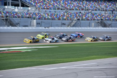Grant Enfinger (98) leads the drafting parade during opening practice.