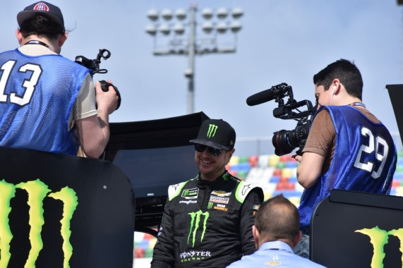 All smiles from Kurt Busch before Daytona 500 final practice.