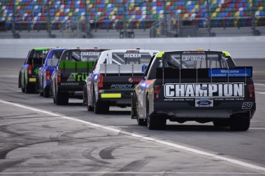 The anticipation of final practice for the NASCAR GOTS.