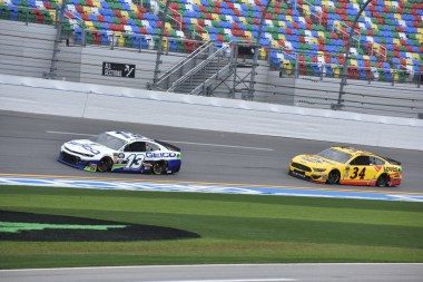 Ty Dillon (13) and Michael McDowell (34) working together paid off as they were the top-two fastest drivers in final pratice.
