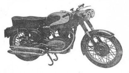 Moto Alpino 250 construida por Braulio Mortera, con su doble faro y escape característico.