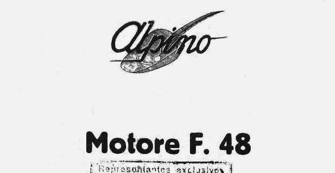 """Despiece Alpino 48 2T – Modelo """"F"""""""