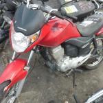 Leilão tem moto Honda CG150 2010 com lance inicial de R$1.083,50