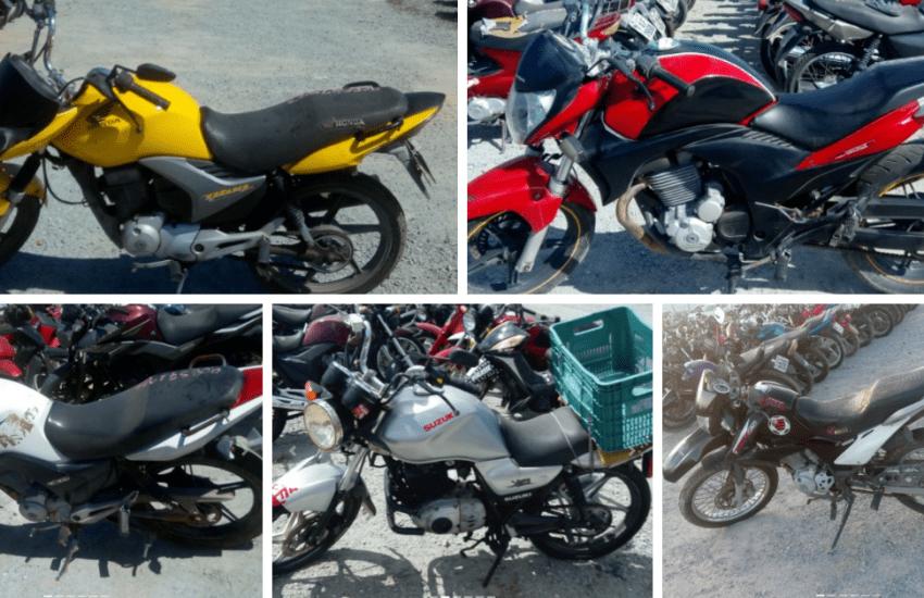 Leilão online tem motos a partir de R$300