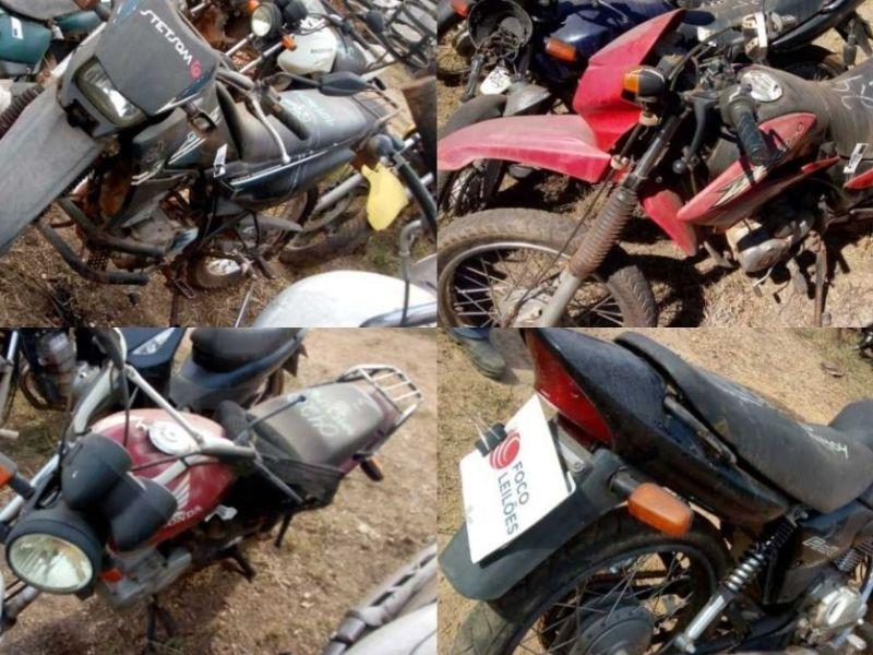 Leilão online tem motos com lance de R$150,00