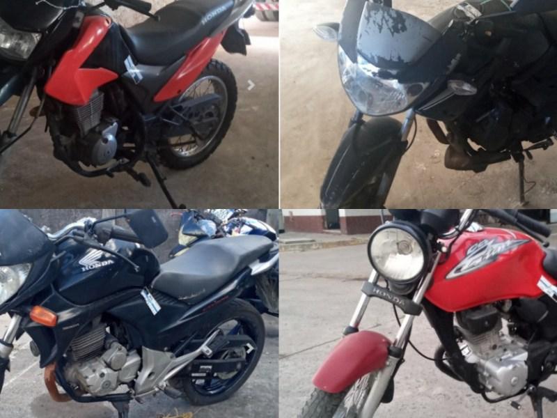 Leilão do Detran tem várias motos com lance inicial de R$200,00