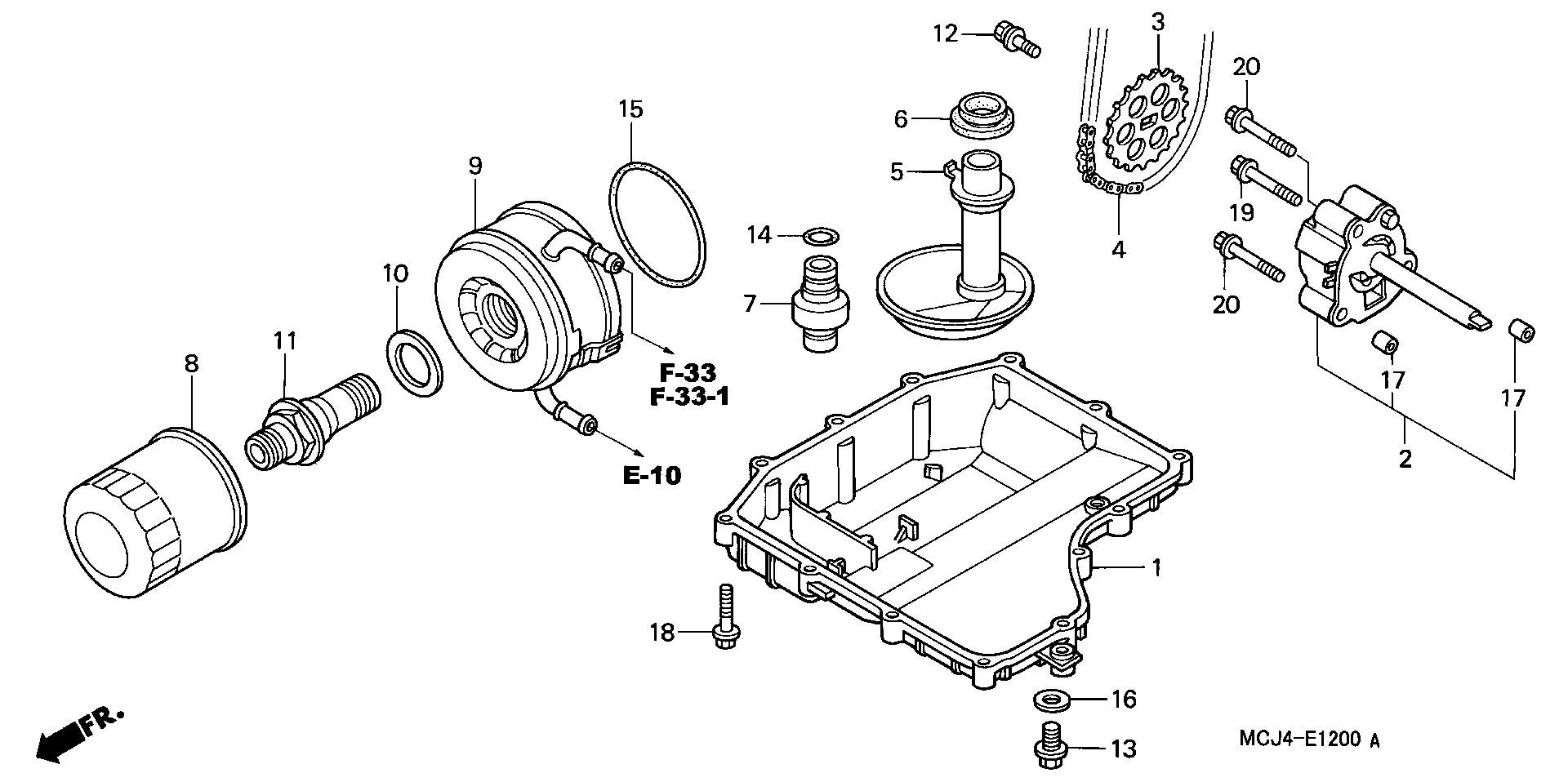 chupona filtro aceite motor honda cbr 900 929 cc