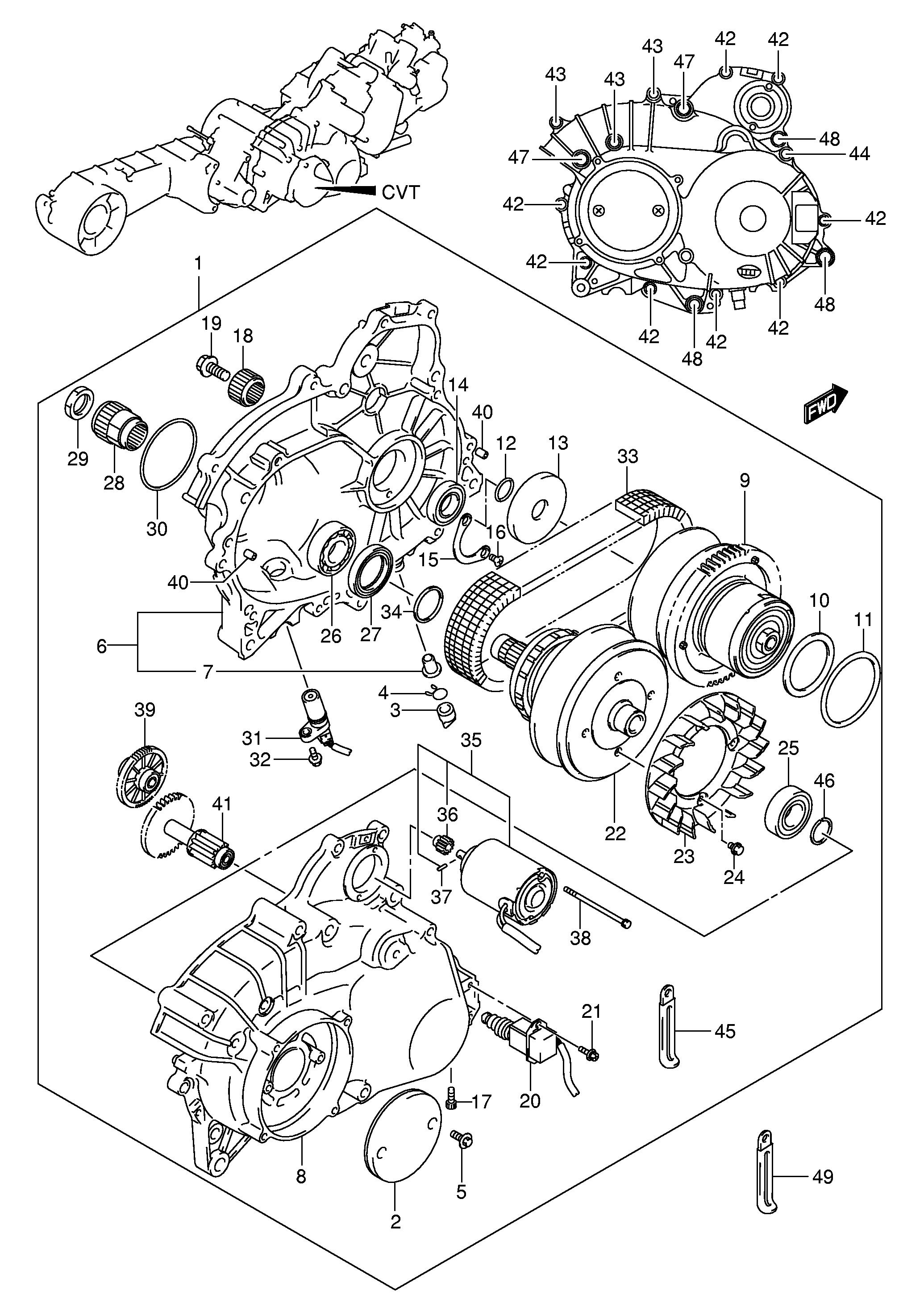 Sensor Polea Cvt Suzuki Burgman 650