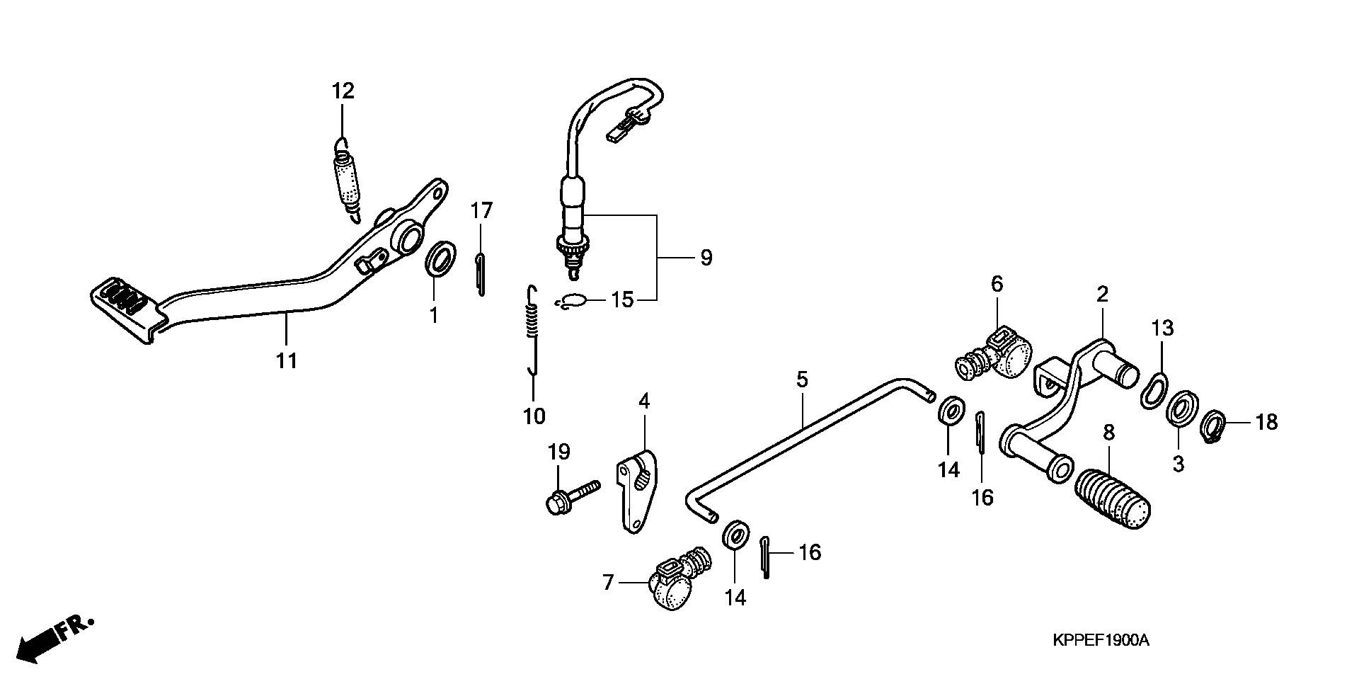 Pedal Freno Trasero Honda Cbr R 125