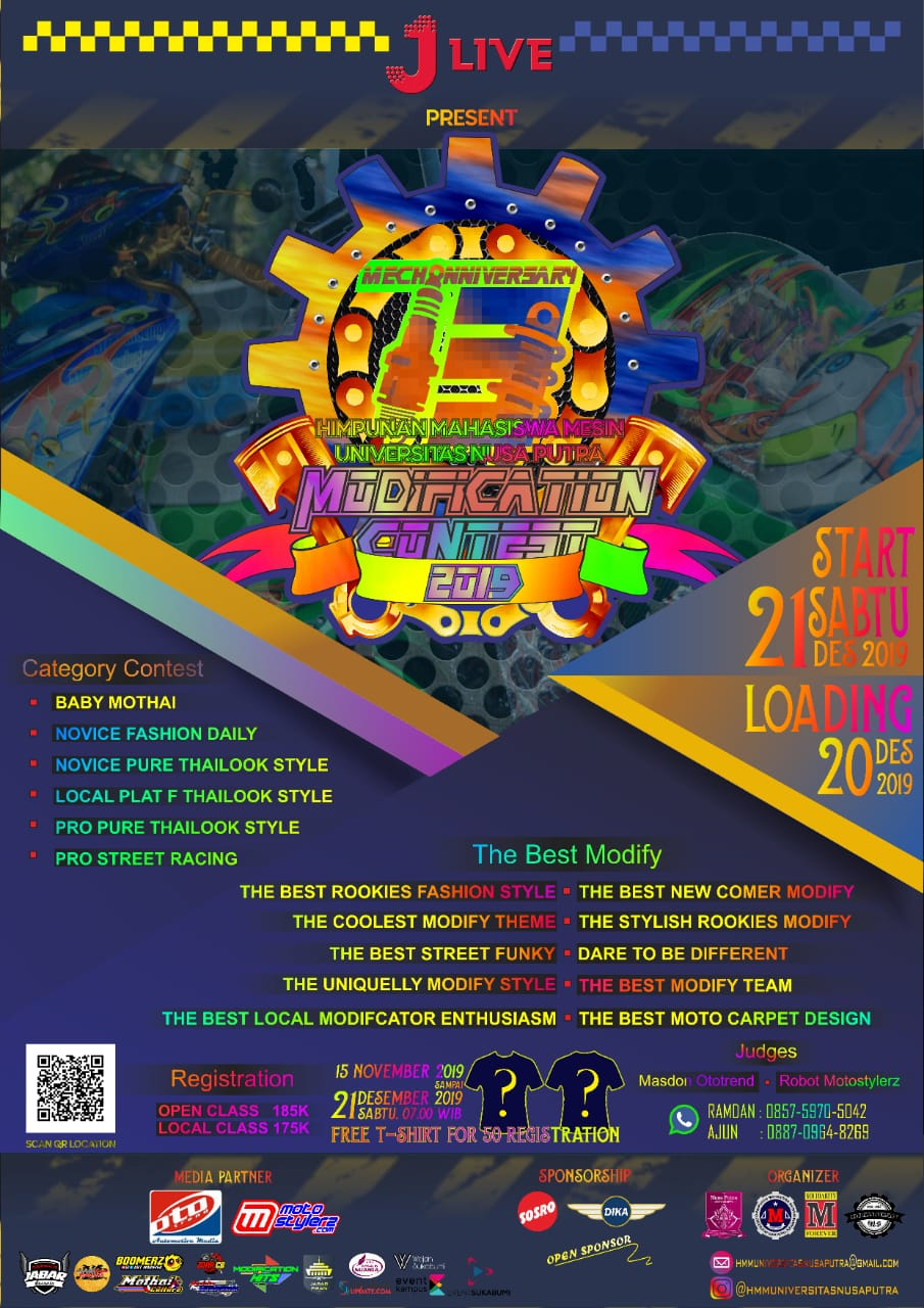 2019 Desember 21 Mechanniversary HMM Universitas Nusa Putra Modification Contest 219