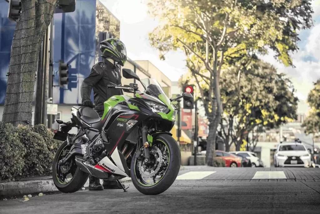 Standing Kawasaki Ninja 650