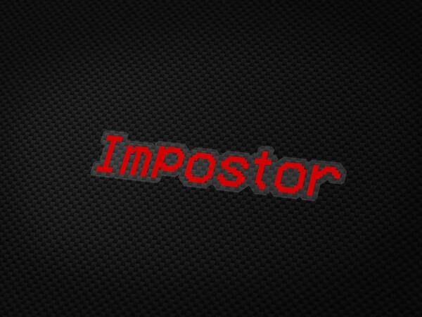 Impostor Aufkleber von MotoWear Germany