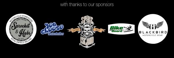 Sprocket and Hubs Motorcycle Store, Royal Enfield Ireland, Spike Island Rum, Bike on Board, You Choose Customs, Blackbird Motorcycle Wear