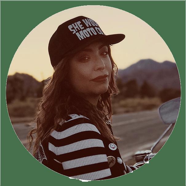Christina Marin Entrepreneur, Animal activist, Female motorcycle rider and vegan motorcycle gear She Wolf Moto company