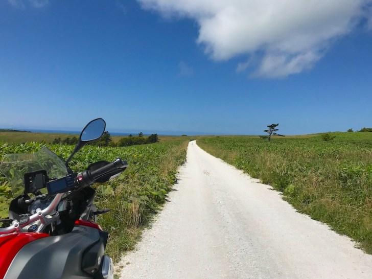 最北の白い道