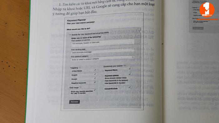 Sách Hướng dẫn bài bản quảng cáo Google Adwords còn hướng dẫn bài bản, chi tiết có ảnh minh họa cho cách set 1 chiến dịch quảng cáo