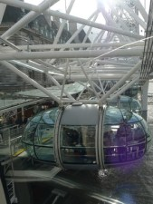 One of the clear pods on the London Eye