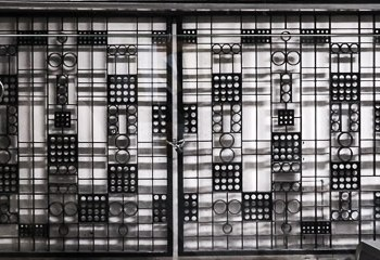 Art Deco style metal grille in Stockholm's T-Central station