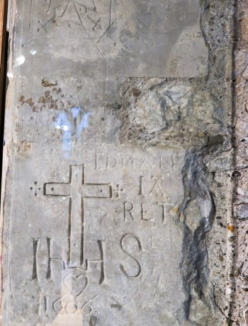 Graffiti from 1606 in the Martin Tower at the Tower of London
