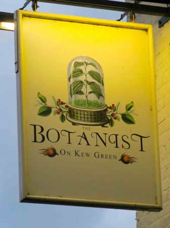 The Botanist pub at Kew Green, London
