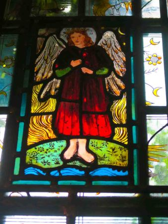 Stained glass at the Red House