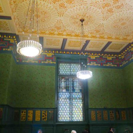 William Morris dining room at the V&A, London