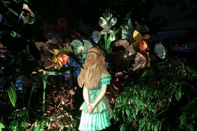 Alice in Wonderland at Calgary Zoolights | Jill Browne