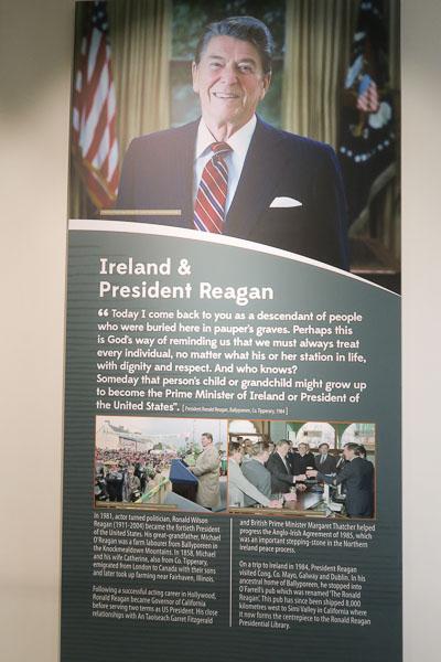 Ronald Reagan information panel | Jill Browne