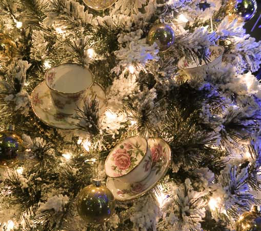 Tea cups on the Christmas tree at Calgary Zoolights | Jill Browne