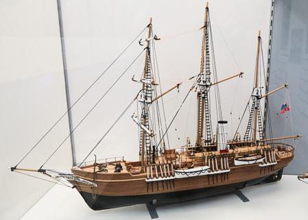 Model of Shackleton's Endurance at the Scott Polar Research Institute, Cambridge   Jill Browne