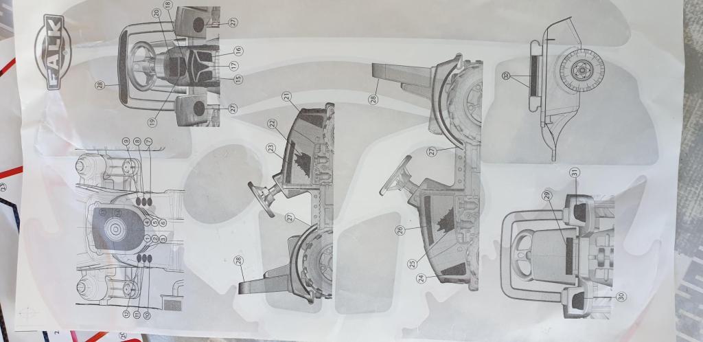 schéma de l'engin de chantier Falk