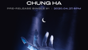 Chungha revealing her comeback with a mysterious image