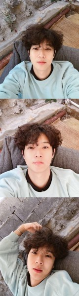 Choi Woo-sik transformed into a bright hair... Park Seo-jun left a comment, showing off friendship