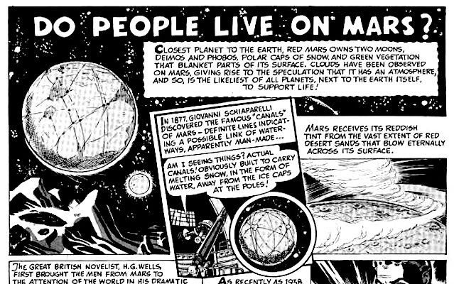'Do People Live On Mars?' Page one of 'Lars of Mars' Number 10, April-May 1951