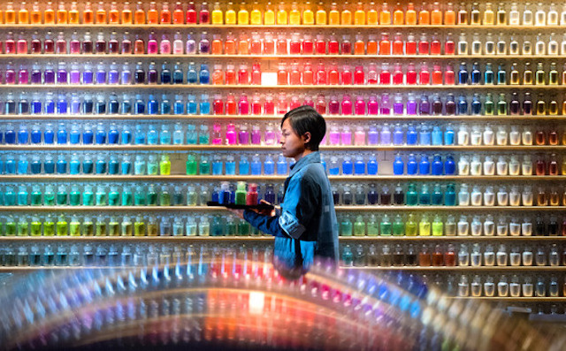 'Pigment': Wall of Tokyo Art Supplies Store Featuring 4,500 Different Bottles