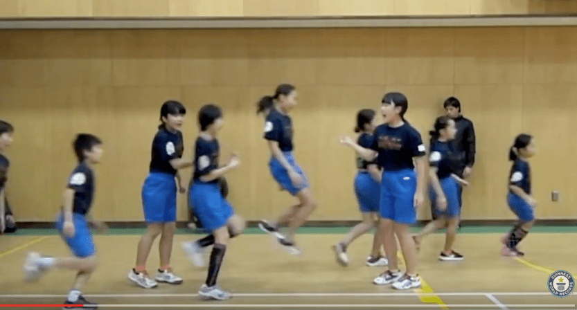 [VIDEO] Jump-Rope Champion Japanese Elementary School Students Crush World Record in Team Skipping