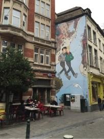 Grafiti komik di Brussels