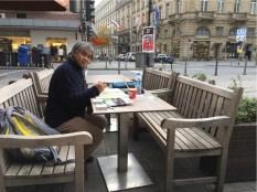 Sketching bersama Pak Thamrin di Frankfurt